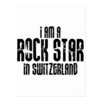 Rockstar In Switzerland Postcard