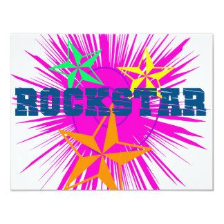 RockStar 11 Cm X 14 Cm Invitation Card