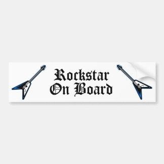 Rockstar On Board Bumper Sticker