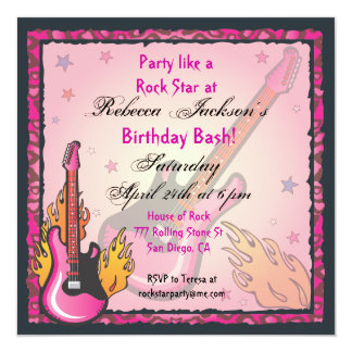 RockStar Party Invitations