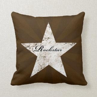 Rockstar Pillow (grunge textures - multi coloured) Cushions