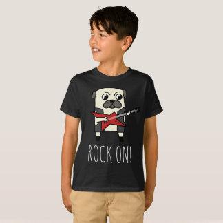 Rockstar Pug Cute Funny Cartoon Dog T-Shirt