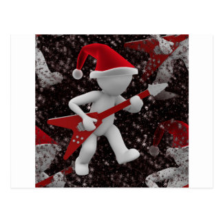 rockstar santa postcard
