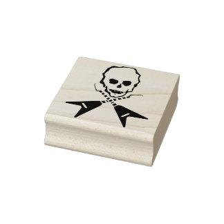 Rockstar skull crossbones illustration art stamp