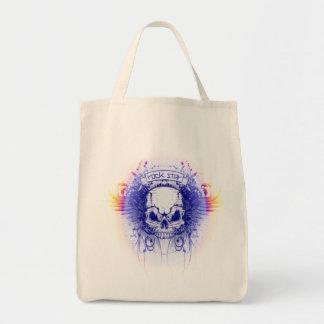 Rockstar Skull - Organic Grocery Tote