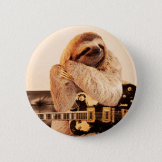 RockStar Sloth 6 Cm Round Badge