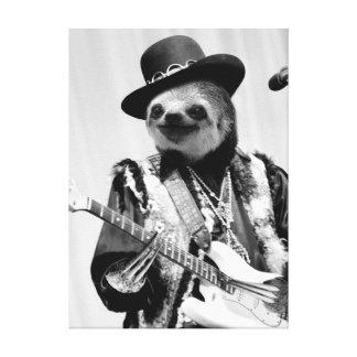 Rockstar Sloth Canvas Print