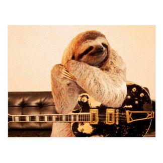 RockStar Sloth Postcard