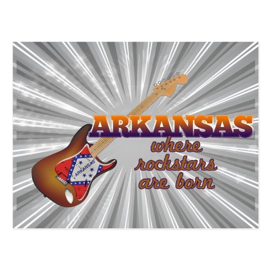 Rockstars are born in Arkansas Postcard
