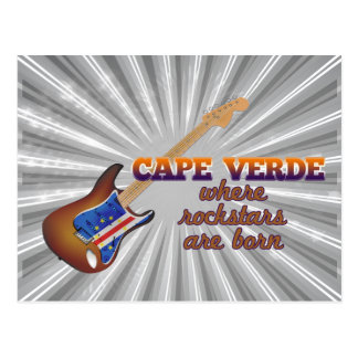 Rockstars are born in Cape Verde Postcard