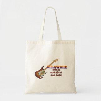 Rockstars are born in Delaware Budget Tote Bag