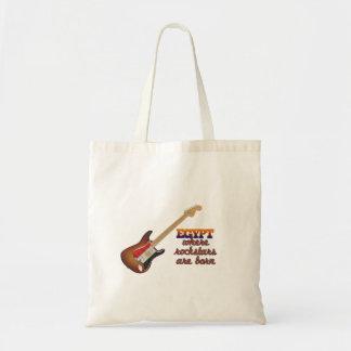 Rockstars are born in Egypt Tote Bag