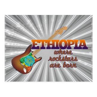 Rockstars are born in Ethiopia Postcard