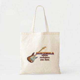 Rockstars are born in Guatemala Tote Bag