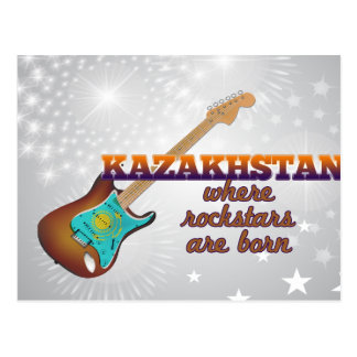 Rockstars are born in Kazakhstan Postcard