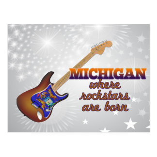 Rockstars are born in Michigan Postcard