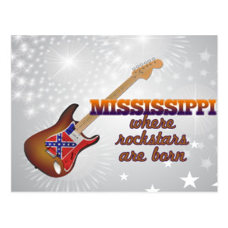 Rockstars are born in Mississippi Postcard