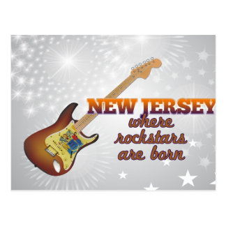 Rockstars are born in New Jersey Postcard