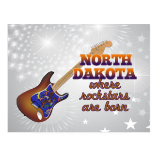 Rockstars are born in North Dakota Postcard