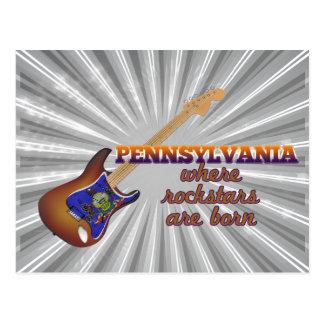 Rockstars are born in Pennsylvania Postcard