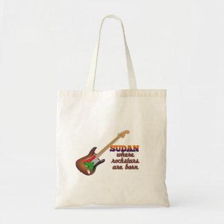 Rockstars are born in Sudan Budget Tote Bag