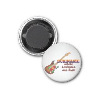 Rockstars are born in Suriname 3 Cm Round Magnet