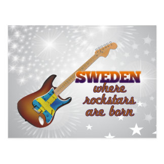 Rockstars are born in Sweden Postcard