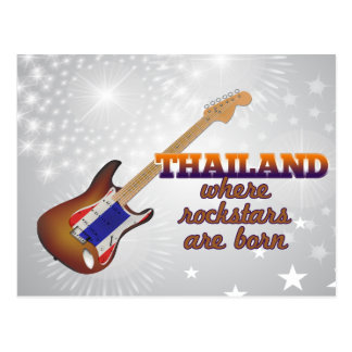 Rockstars are born in Thailand Postcard