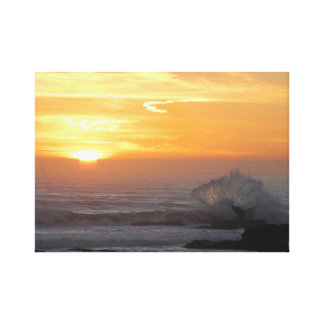 Rockview with Wave Canvas Print