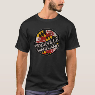 Rockville Maryland flag grunge scroll T-Shirt