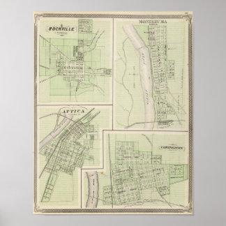Rockville, Parke Co, Montezuma, Parke Co Poster