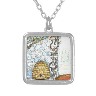 rockwall crop silver plated necklace