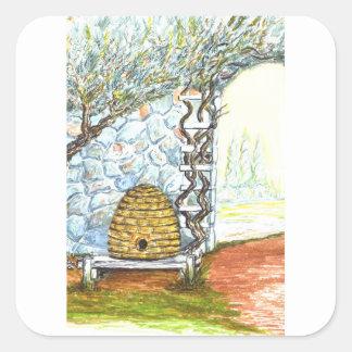 rockwall crop square sticker