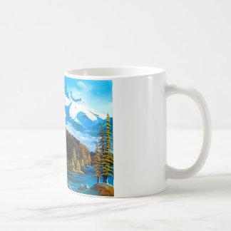 Rocky and eagle coffee mug