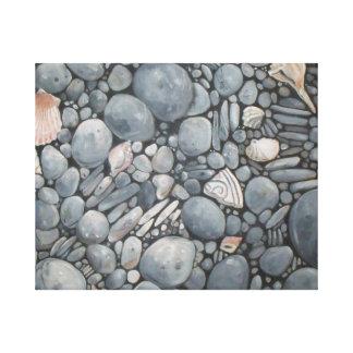 Rocky Beach House Nature Canvas Print