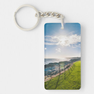 Rocky beach in Ireland (Greystones) Key Ring