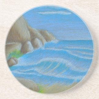 Rocky beach sandstone coaster