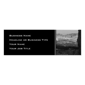 Rocky Beach. Scenic Coastal View. Black and White. Pack Of Skinny Business Cards