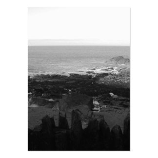 Rocky Beach. Scenic Coastal View. Black and White. Pack Of Chubby Business Cards