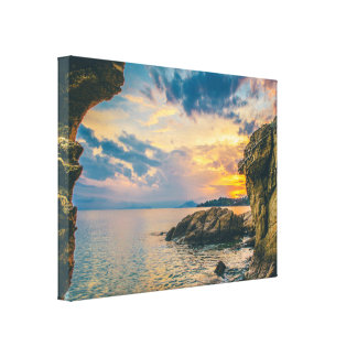 Rocky Cliffs of the Sea Canvas Print