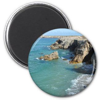 Rocky coast at Quiberon peninsula in France Magnet