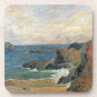 Rocky Coast by Paul Gauguin, Vintage Impressionism Coaster