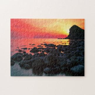 Rocky Coastal Sunset 11x14 Jigsaw Puzzle