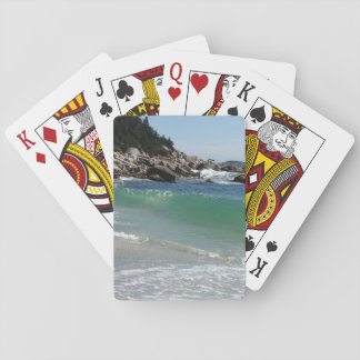 rocky coastline ocean surf playing cards