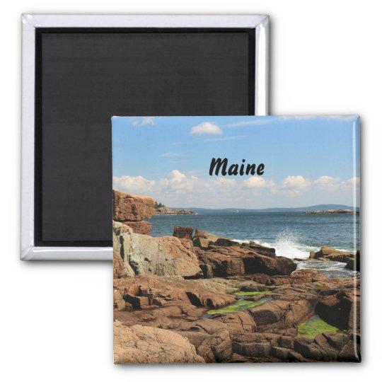Rocky Coastline Square Magnet