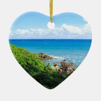 rocky-foliage-coast-deerfield-beach-4s6490 ceramic ornament