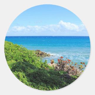 rocky-foliage-coast-deerfield-beach-4s6490 classic round sticker