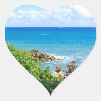 rocky-foliage-coast-deerfield-beach-4s6490 heart sticker