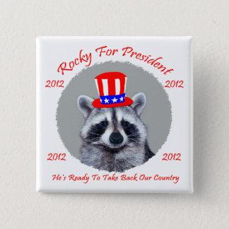 Rocky For President Square Botton 15 Cm Square Badge
