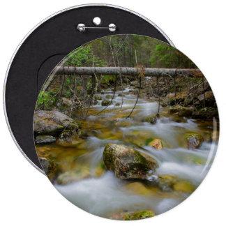 Rocky forest creek 6 cm round badge